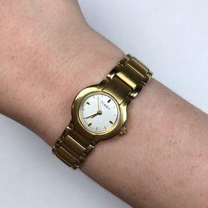 Timex vintage yellow gold watch Art Deco MCM